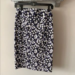 Express Floral purple and black pencil skirt